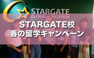 英語初級者に人気の【STARGATE】校が春の留学キャンペーンを開催