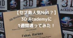 【コスパ最強】評判が高い3D ACADEMYに1週間留学してみた【体験談】